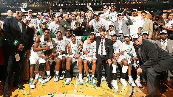 Celtics celebrating latest championship