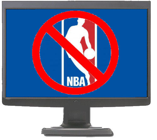 monitor screen showing nba lockout logo